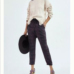 NWT Anthropologie Jacquie Button-fly Joggers M